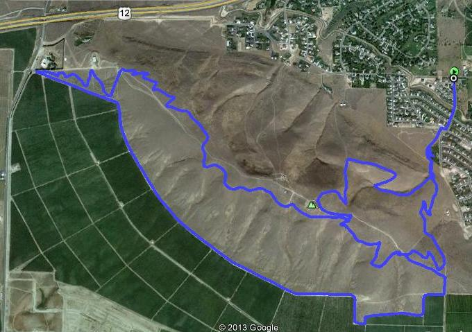 15k GPS Tracing Overlayed on Google Earth! Lots of Ups and Downs!