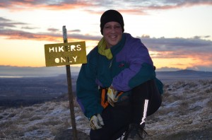 At the top of Badger Mountain, Winter Solstice 2011