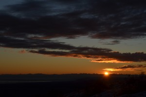 Badger Mountain Sunrise View - Winter