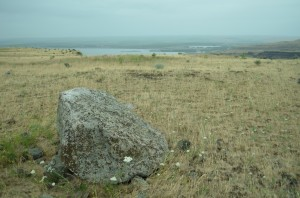 Erratic overlooking Lake Wallula