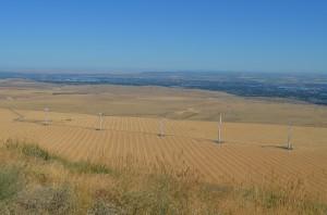 Jump off Joe wind turbines, nine-canyon wind farm, huge wind turbines
