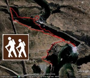 Palouse Falls Washington Map.Palouse Falls Hiking Trail