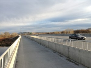 Yakima River Bridge Path Along Highway 240