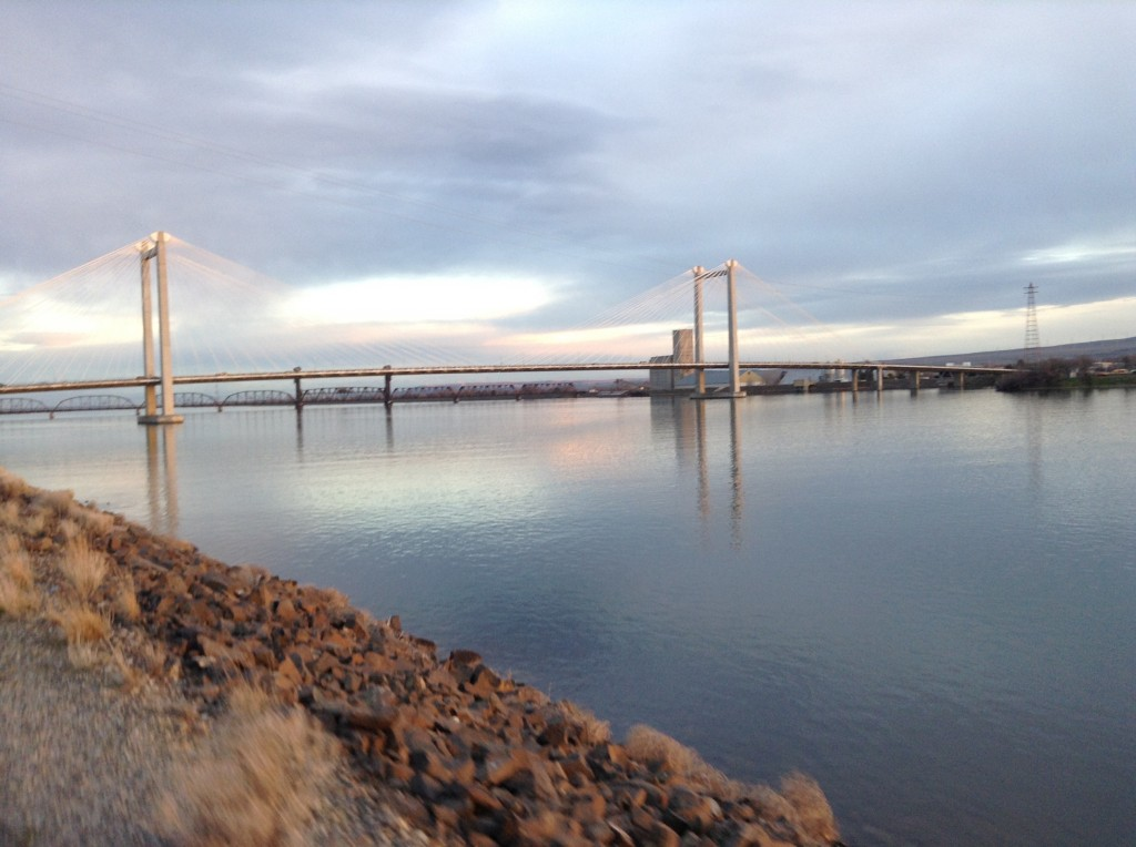 Cable Bridge Between Pasco and Kennewick over the Columbia River