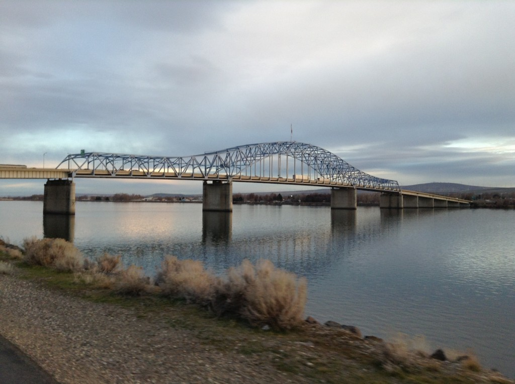 Blue Bridge Between Kennewick and Pasco over the Columbia River