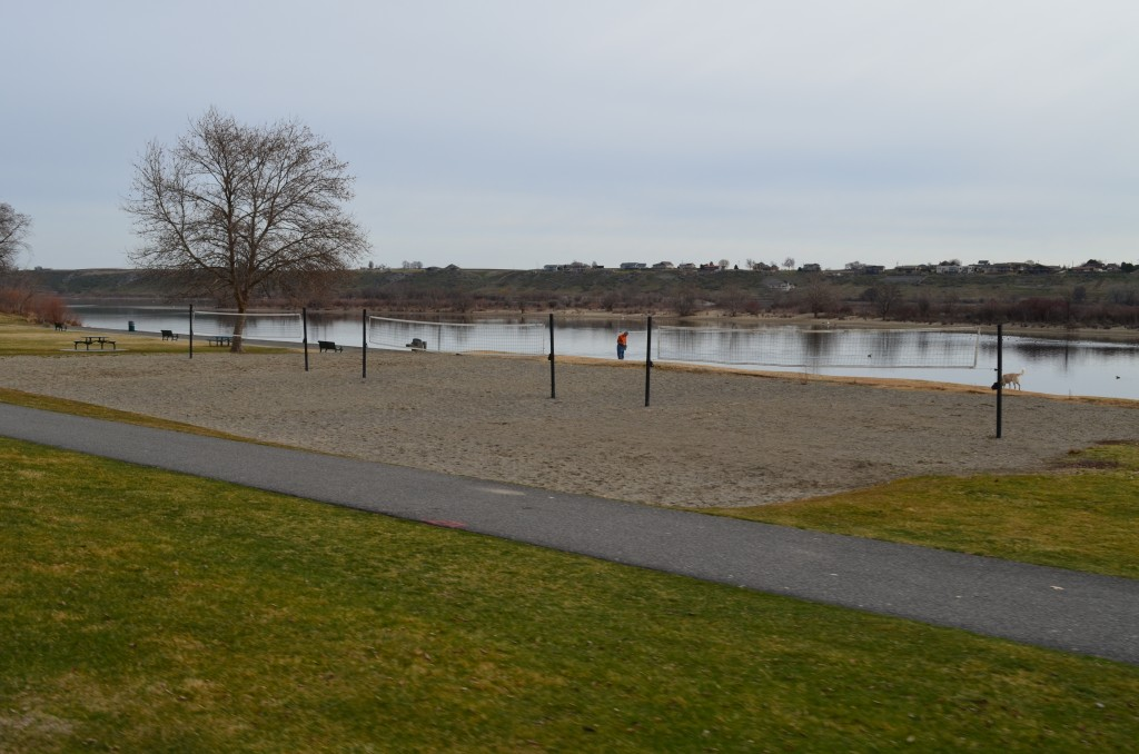 Sand Volleyball Courts at Leslie Groves Park