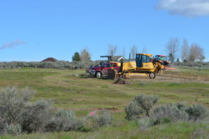 Heavy Equipment at the Candy Mountain Summit Trail trailhead