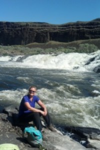 Julie at the Palouse River above Palouse Falls
