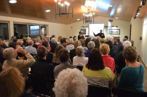 Board President Bob Bass Addresses the Crowd at Kiona Winery