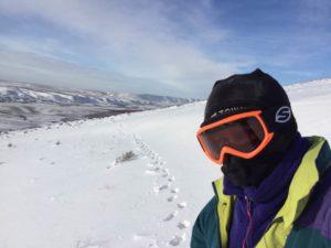 010417 Badger snow trail