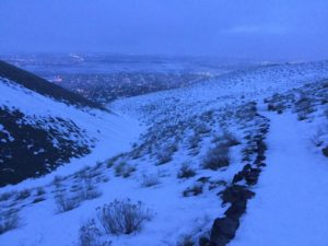 012417 Morning lights in snow from Badger Mountain 3