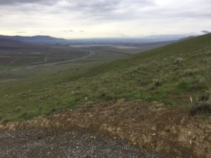 Candy Mountain Trail Looking Southwest to Horse Heaven Hills, I-82, Lower Yakima Valley