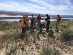 Rescued hikers at White Bluffs