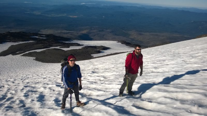 Chris and Dom climbing Mt. Adams