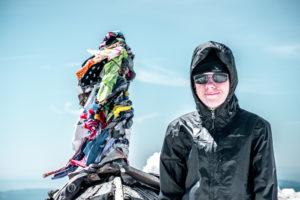Daniel on the summit of Mount Adams