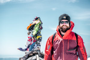 Dom on the summit of Mount Adams