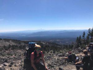 Everett on climb up Morrison Creek drainage on Mt. Adams