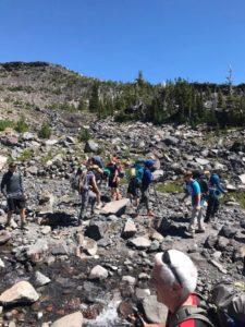 Josh, Carter, Michael, Justin, Paul and more at the Morrison Creek crossing on Mt. Adams