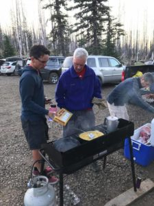 Justin, Paul, and Craig making breakfast 2