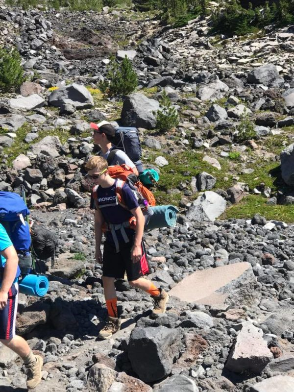 Michael and Justin in Morrison Creek drainage on Mt. Adams