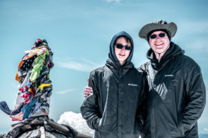Michael and Waylon on the summit of Mount Adams