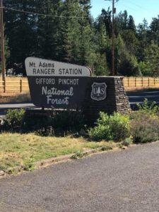 Mt. Adams Ranger Station sign
