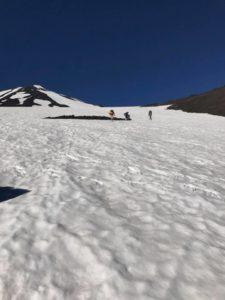 Mt. Adams climbing snow field