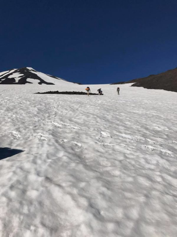 Mt. Adams climbing snow field