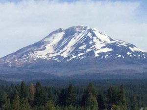 Mt. Adams from Trout Lake School