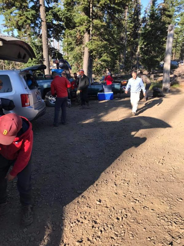 Packing up the camp at Cold Springs Campground 3