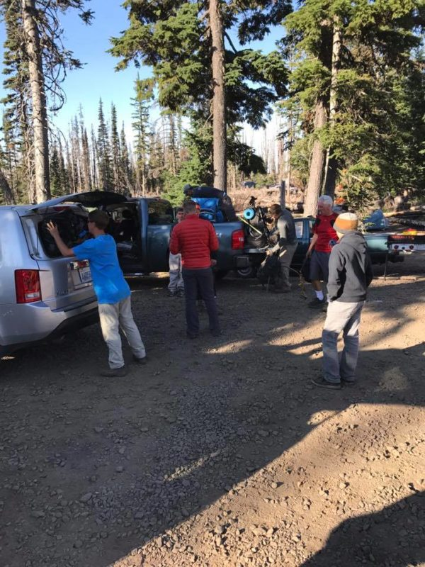Packing up the camp at Cold Springs Campground