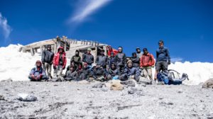 Paradise Ward group of 21 at the shack on top of Mt. Adams, August 18, 2017
