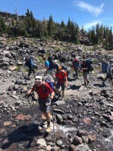 Paul, Layton, Billy, Carter and more at the Morrison Creek Crossing on Mt. Adams