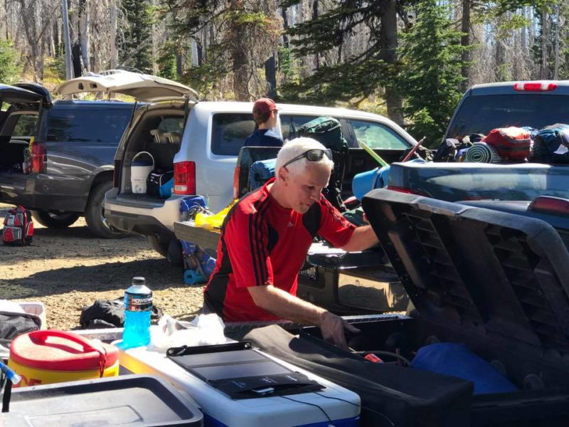 Paul at Cold Springs Campground before climb