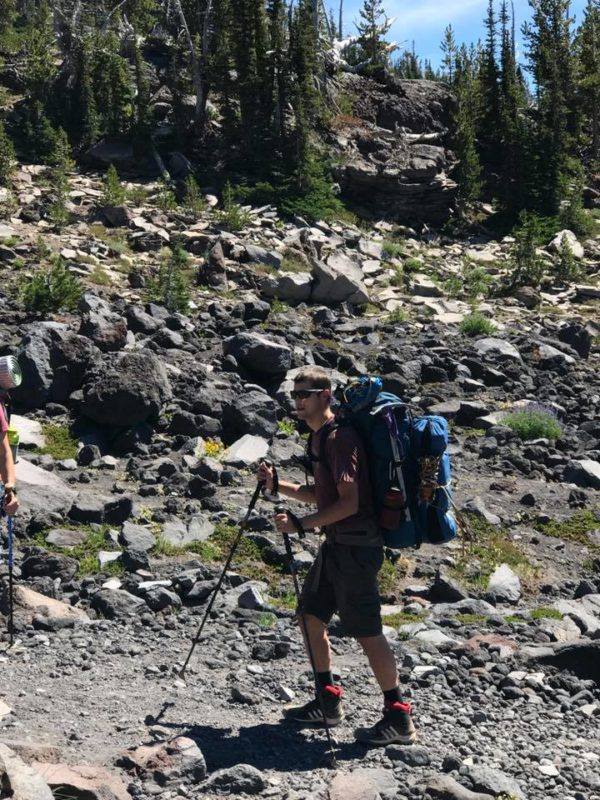 Rob hiking up Morrison Creek drainage on Mt. Adams