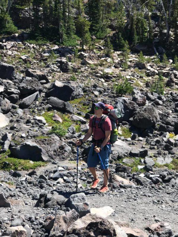 Steve on Trail near Morrison Creek at Mt. Adams