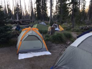 Tents at Cold Springs Campground at Mt. Adams 2