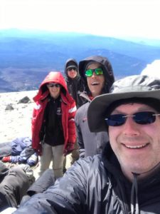 Waylon, Carter, Steve on top of Mt. Adams