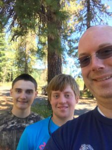 Waylon, Chris, Richard at Cold Springs Campground