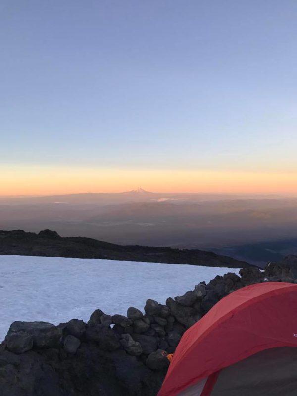 Waylon Tent with Mt. Hood background