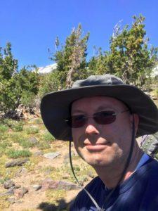 Waylon on hike up Morrison Creek drainage on Mt. Adams